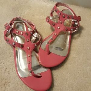Mark. Fuchsia Pink Studded Sandals 6 NWOT